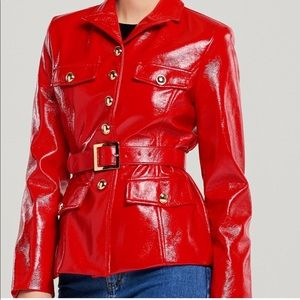 Storets faux red leather jacket
